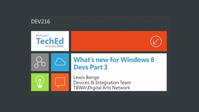 What's new for Windows 8