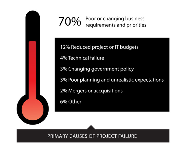 Primary causes of project failure