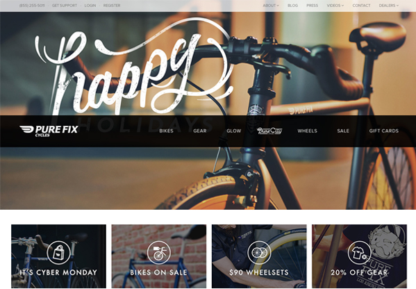 Pure Fix Cycles website screenshot