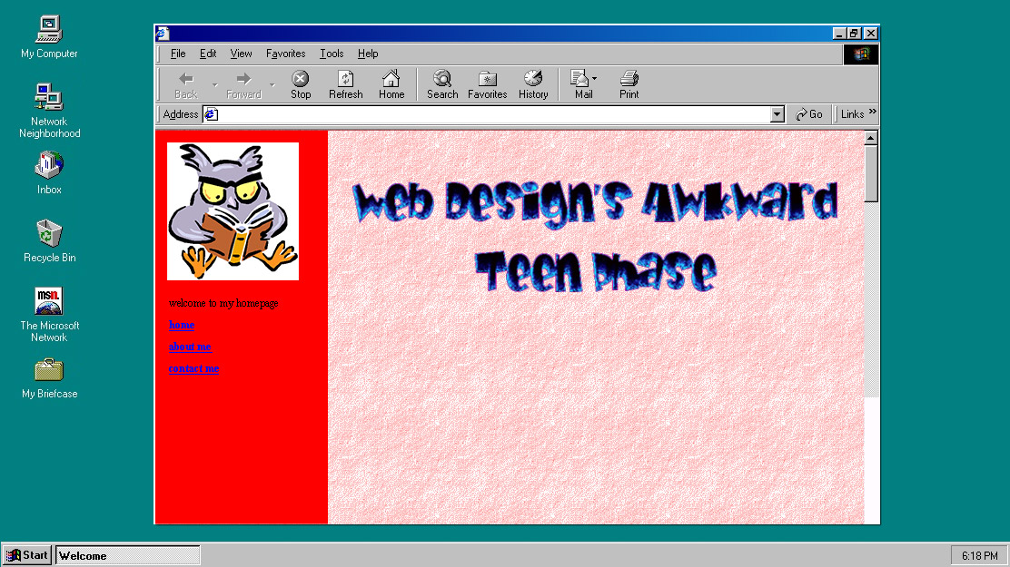 Web Design's Awkward Teen Phase