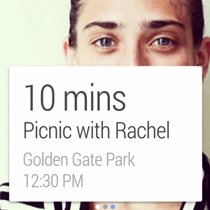 Android Wear screen - event reminder