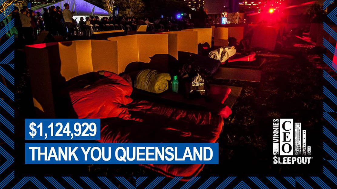 CEO sleepout result