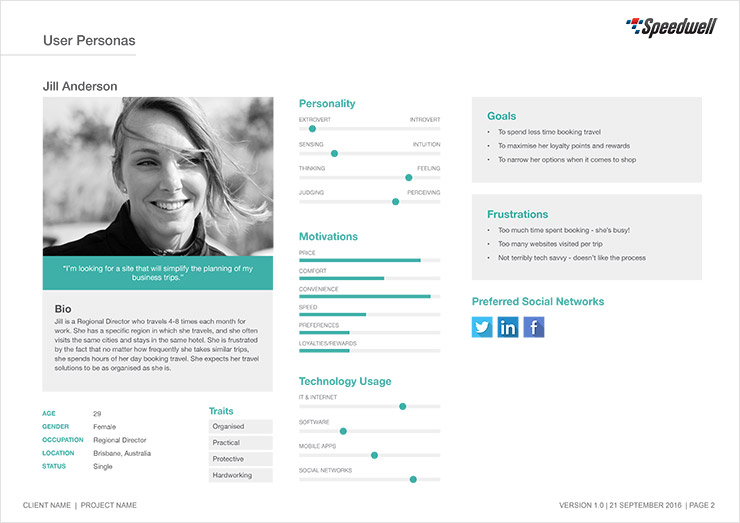 User Research Persona Template