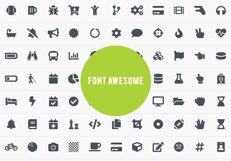 Icons font Awesome