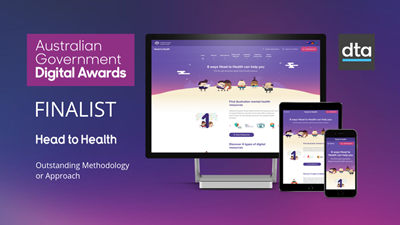 Head to Health team has been selected as a finalist in the Digital Transformation Agency's Australian Government Digital Awards