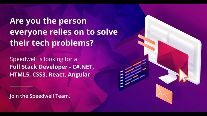 Speedwell is looking to hire a Full Stack Developer. Are you the person everyone relies on to solve their tech problems? Apply today.