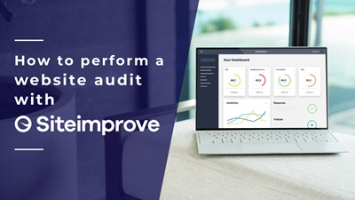 How to perform a website audit with Siteimprove.