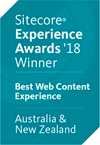 Sitecore Experience Awards '18 Winner - Best Web Content Experience - Australia & New Zealand