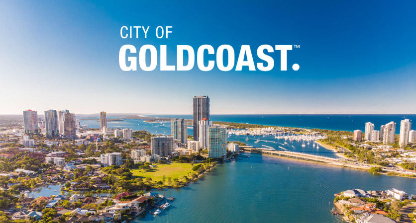 Aerial photo of the City of Gold Coast