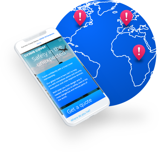 Crisis Cover integrates directly with global tracking