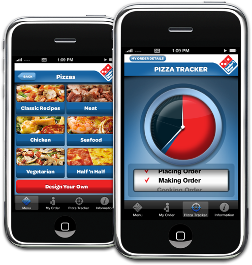 Dominos mobile app