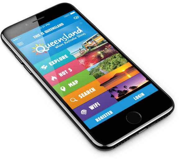 Tourism and Events Queensland on mobile